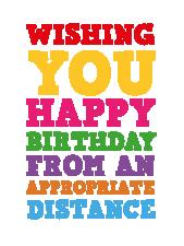 Lockdown Rainbow birthday card - Lockdown cards - Letterbox gifts