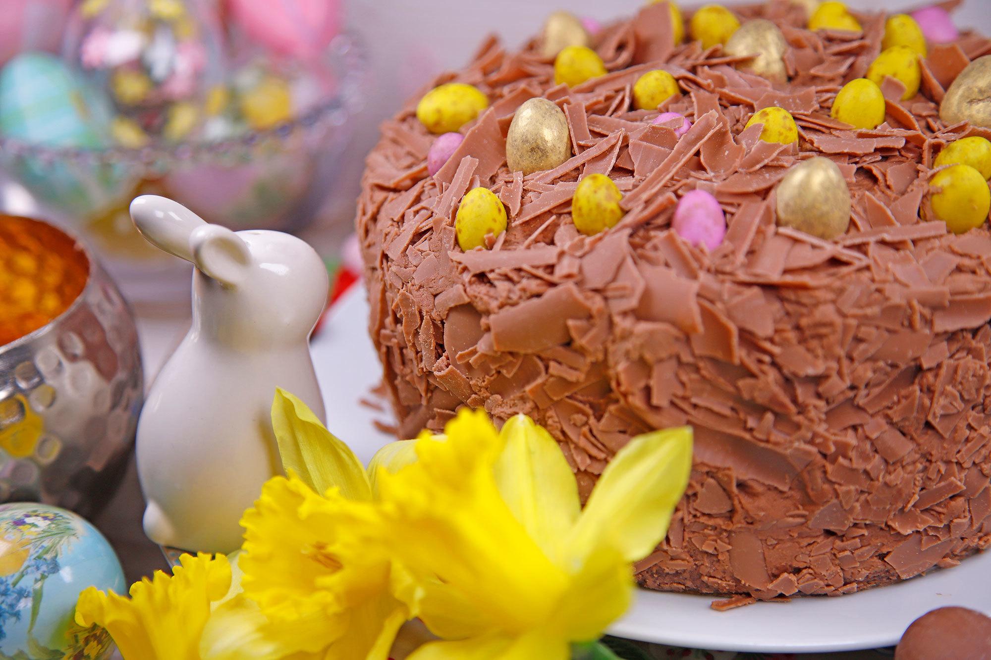 Easter Chocolate Pinata Cake