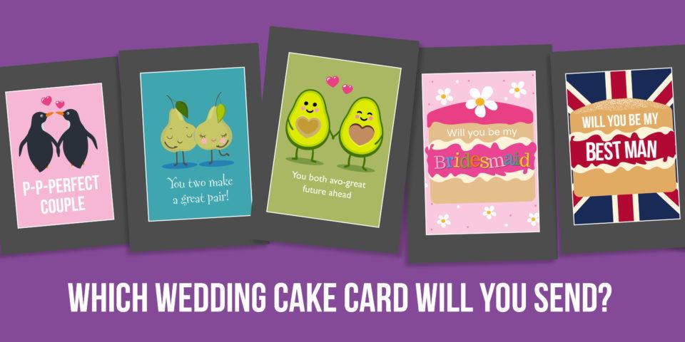 Wedding Cake Card Choose Banner