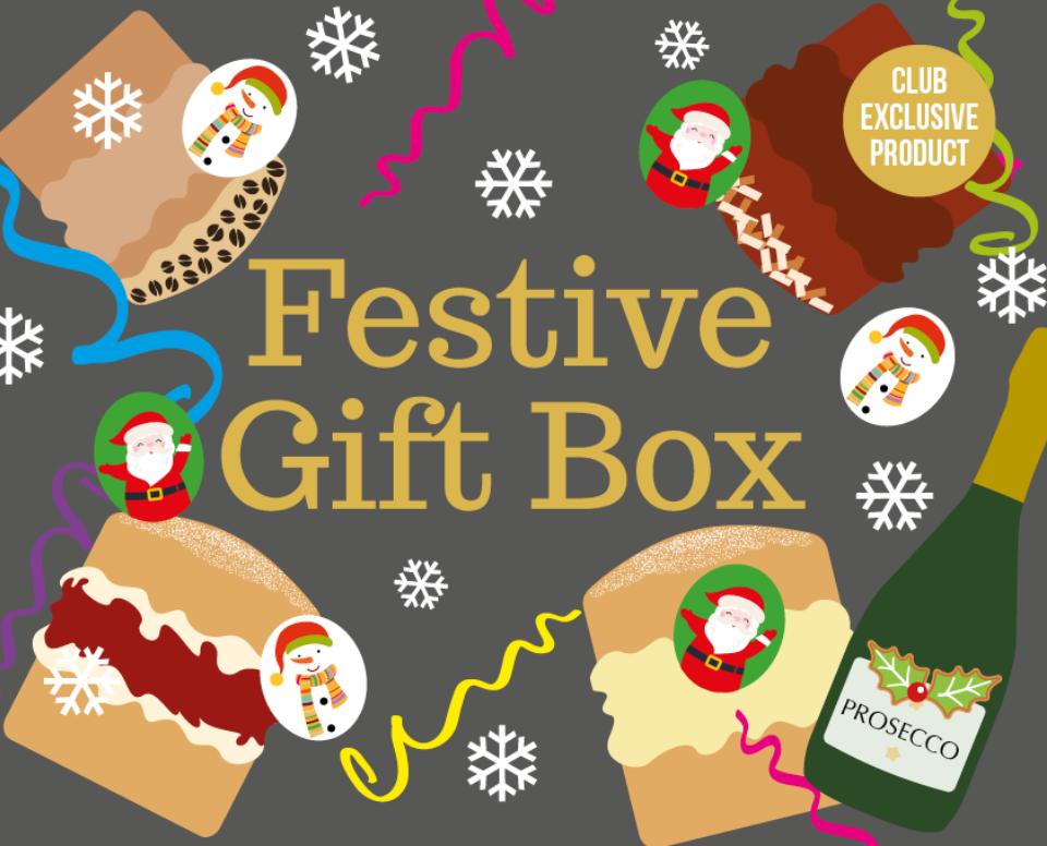 Sponge Club Festive Cake Gift Box