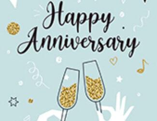 Anniversary Cheers Celebrate Blue - Anniversary Cards