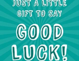 Good Luck Gift Teal - Good Luck Cards - Cake Card - Thumbnail