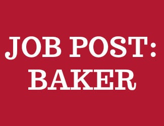 Job post Baker Hero