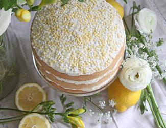 New Lemon & Elderflower Cake