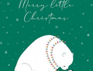 Merry Little Christmas Polar Bear and Penguin - New Christmas Card Designs
