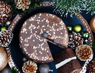 Peppermint Crisp Sponge Cake