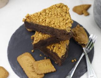 Vegan Biscoff Speculoos Brownie