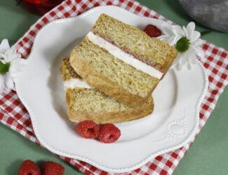 Vegan Victoria Sponge Cake Slice - Thumbnail