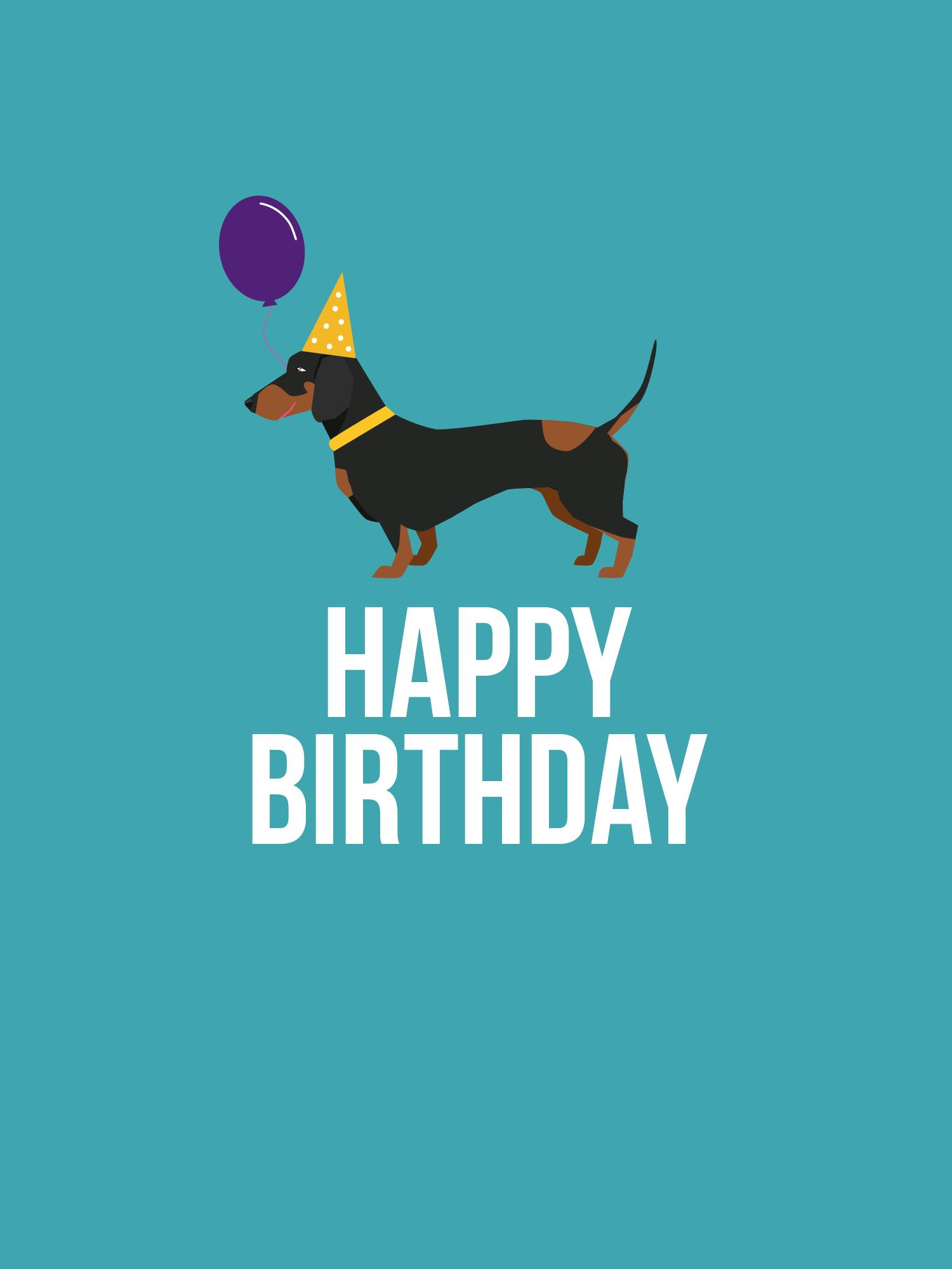 Strange Dachshund Birthday Cake Card Funny Birthday Cards Online Unhofree Goldxyz