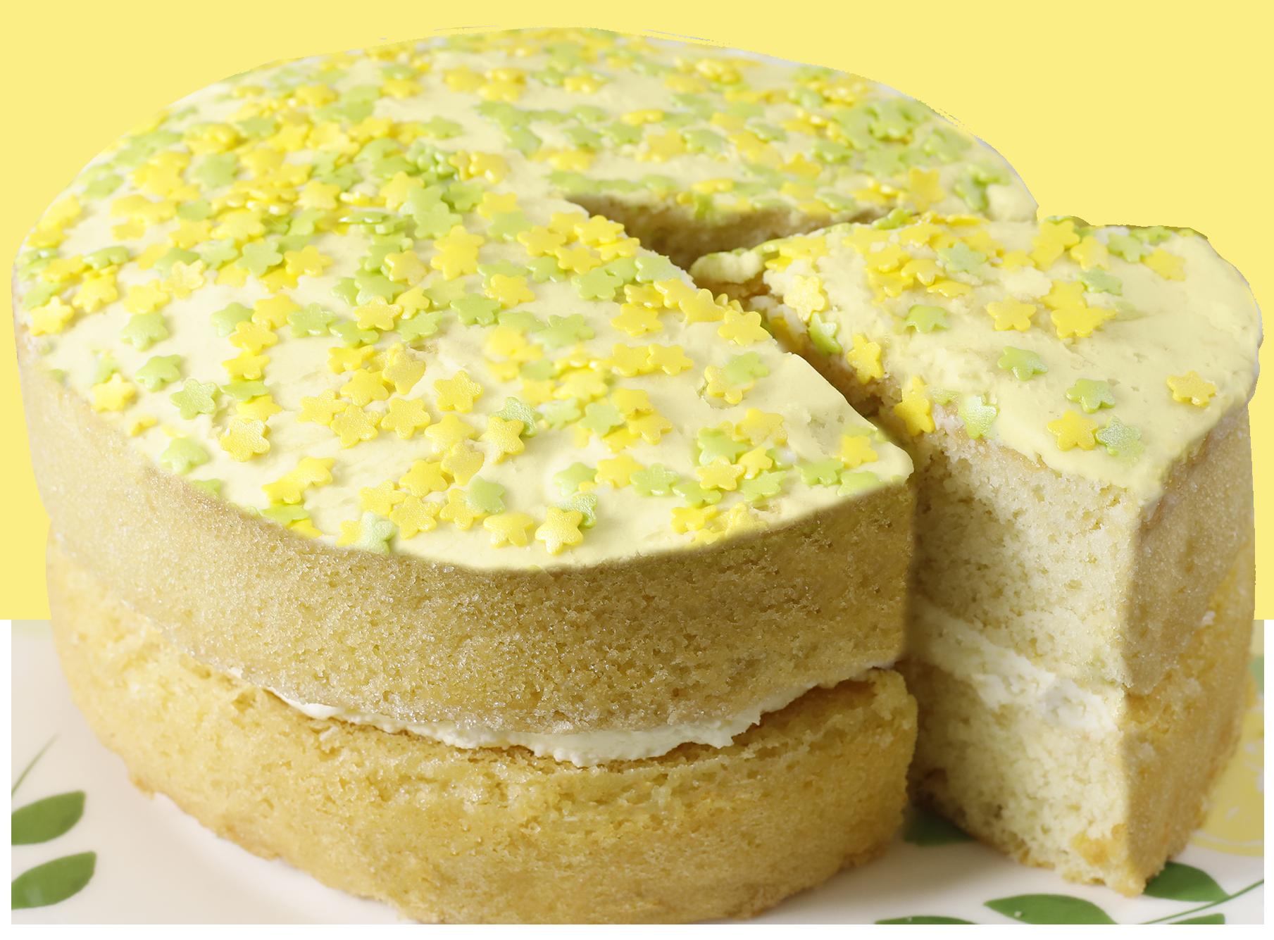 Gluten Free Lemon & Elderflower Cake Cutout