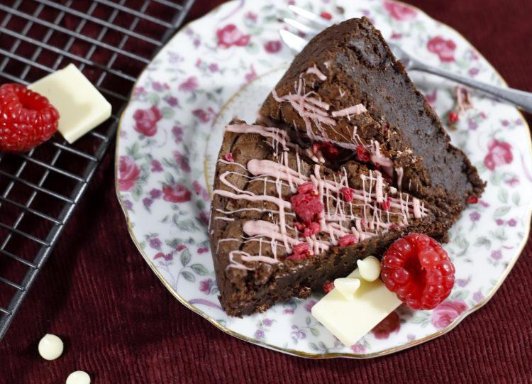 Raspberry & White Chocolate Brownie