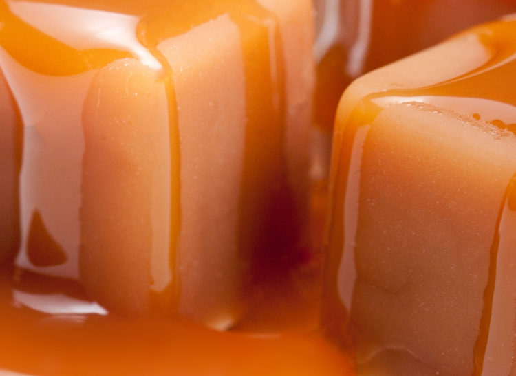 Toffee melted- close up