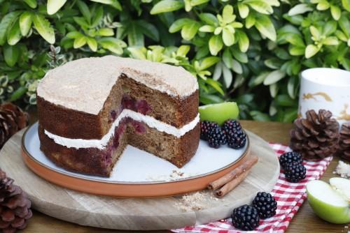 Gluten Free Apple & Blackberry Cake