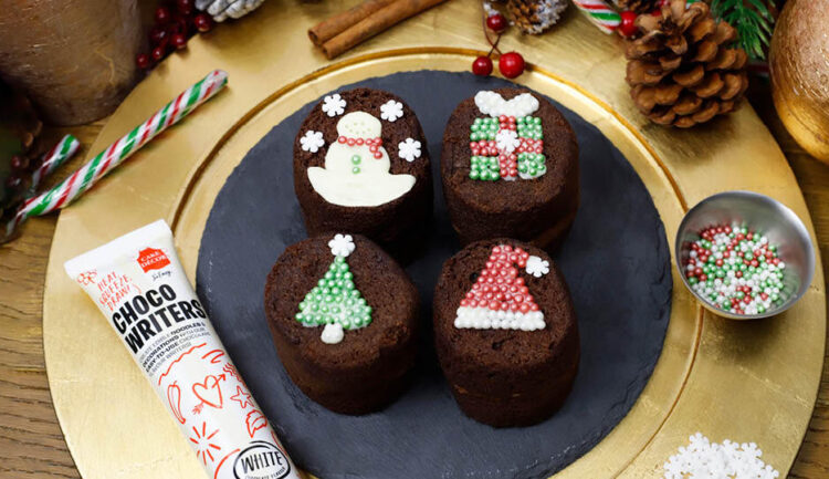 Baby Sponges with Christmas Cake Decorating Kit