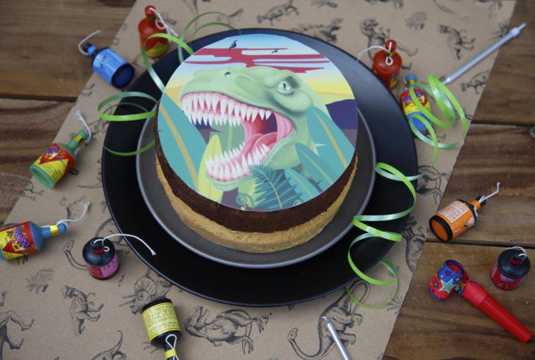 Dinosaur Topped Sponge Cake