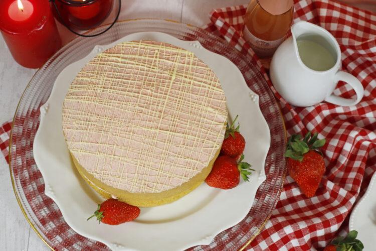 Gluten Free Strawberries and Cream Cake