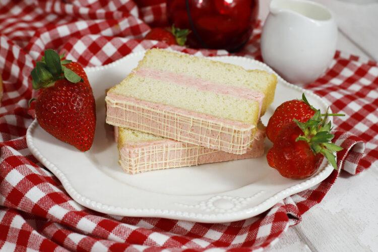 Strawberries and Cream slice