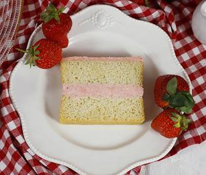 Gluten Free Strawberries and Cream Slice