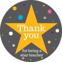 Thank You Teacher Cake Top