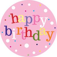 Happy Birthday (Pink) Cake Top
