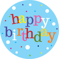 Happy Birthday (Blue) Cake Top