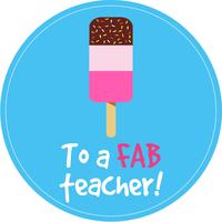 Fab Teacher Cake Top