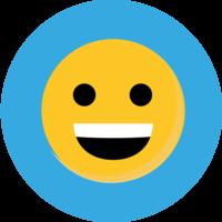 Smiley Teeth Emoji Cake Top