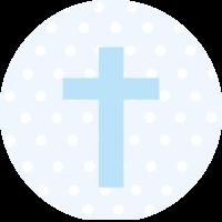 Blue Cross Cake Top