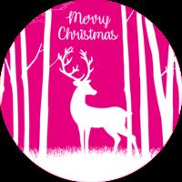 Pink Reindeer Cake Top