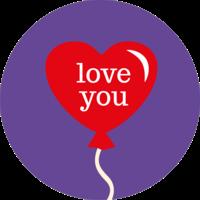 Love you Balloon Topper