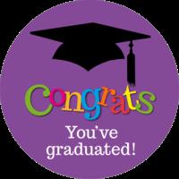 Congratulations (purple) Graduation Cake Top