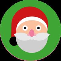 Emoji Santa Cake Top