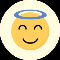 Emoji Angel Cake Top