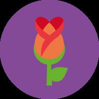 Emoji Rose Cake Top