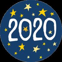 New Year 2020 Stars Cake Top